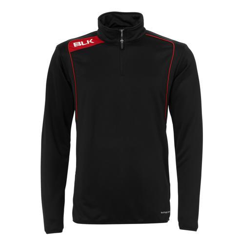 Sweat BLK 1/2 zip training noir rouge