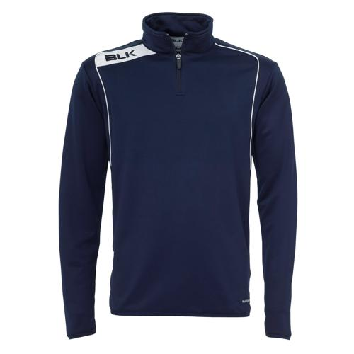 Sweat BLK 1/2 zip training marine blanc