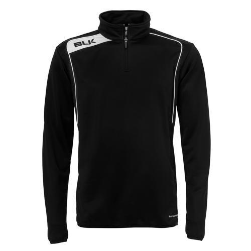 Sweat BLK 1/2 zip training noir blanc