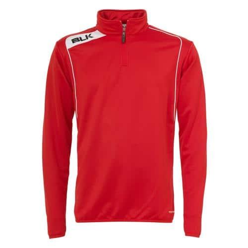Sweat BLK 1/2 zip training rouge blanc