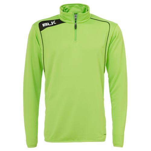 Sweat BLK 1/2 zip training vert noir