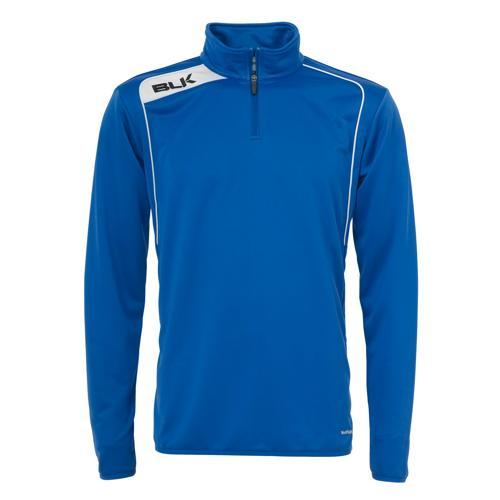 Sweat BLK 1/2 zip training bleu royal blanc