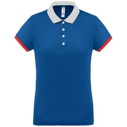 Polo féminin Flag PES Bleu/Blanc/Rouge Tech Casal