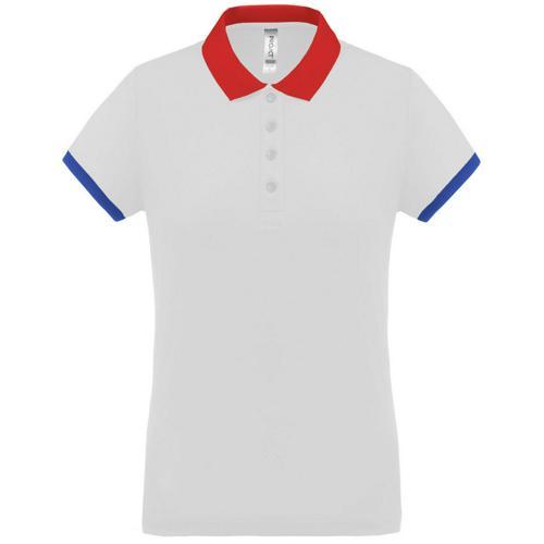 Polo féminin Flag PES Blanc/Rouge/Bleu Tech Casal