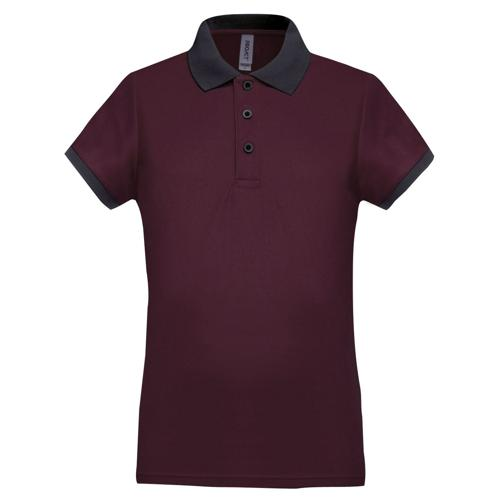 Polo féminin Flag PES Bordeaux/Anthracite Tech Casal