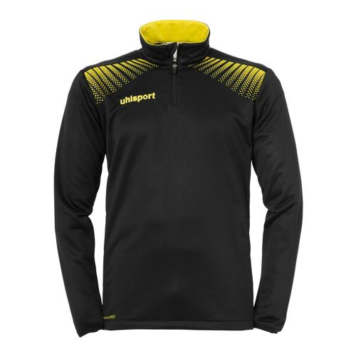 Sweat-shirt 1/2 zip Uhlsport Goal Noir/Jaune