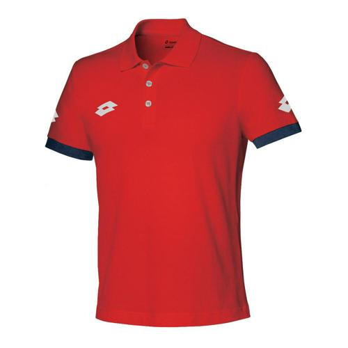 Polo enfant Lotto Stars Evo Rouge/Marine