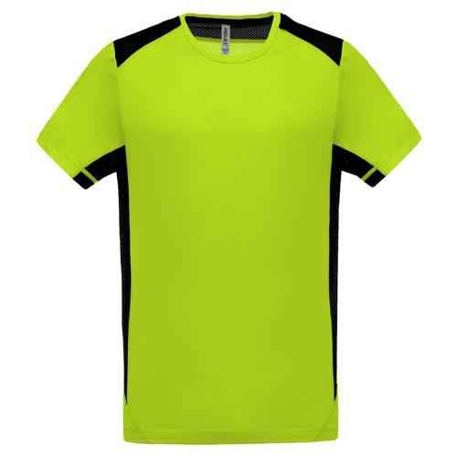 T-shirt Bicolore Unity PES Vert/Gris Foncé Tech Casal