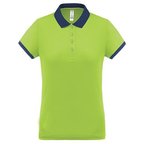 Polo féminin Flag PES Vert/Marine Tech Casal