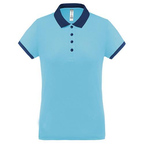 Polo féminin Flag PES Bleu Ciel/Marine Tech Casal