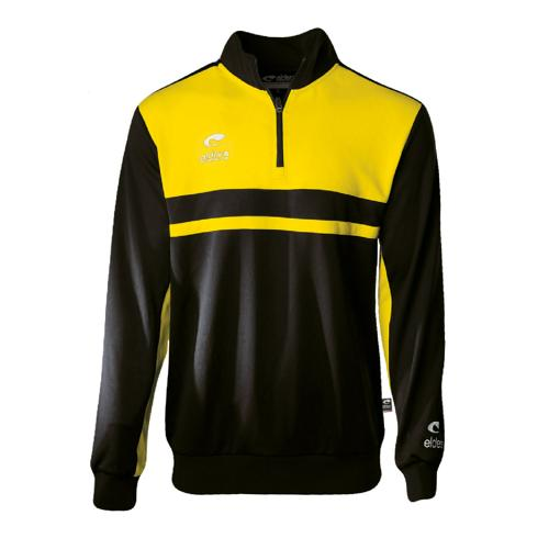 Sweat 1/2 Zip Eldera Allure Noir/Jaune