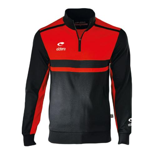 Sweat 1/2 Zip Eldera Allure Noir/Rouge