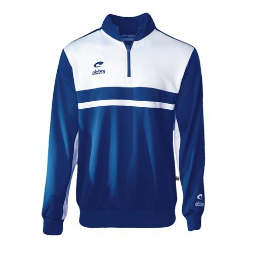 Sweat 1/2 Zip Eldera Allure Royal/Blanc