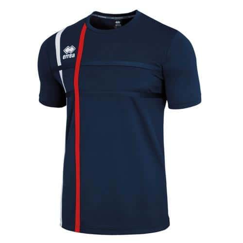 Tee-shirt Errea Mateus Marine/Rouge/Blanc