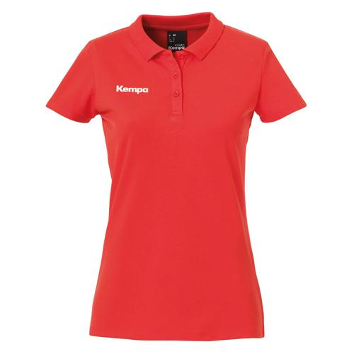 Polo feminin Kempa Poly Core Rouge