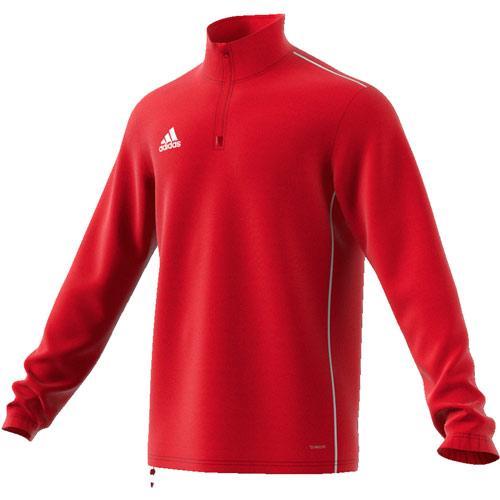 Sweat 1/2 zip Training Core 18 Rouge adidas