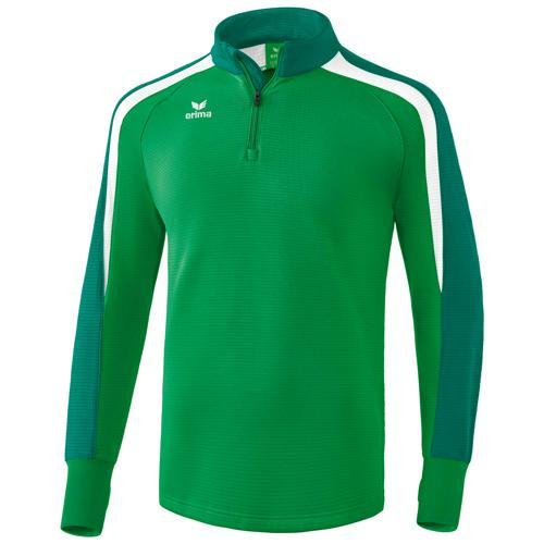 Sweat 1/2 zip Erima Liga 2.0 Vert/Blanc