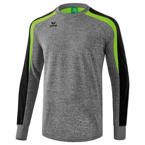 Sweat Erima Top 2.0 Liga Gris chiné/Vert/Noir