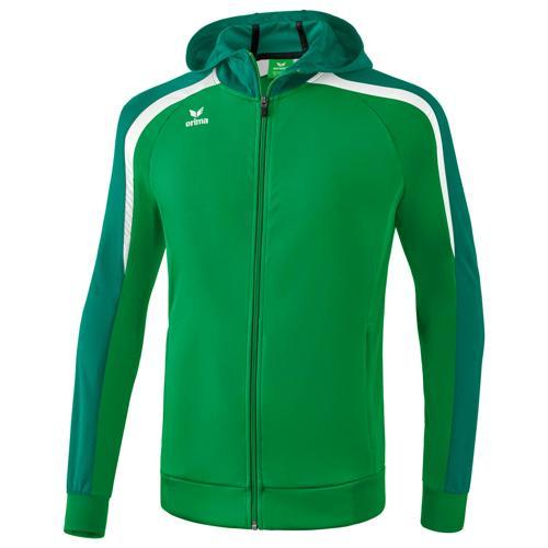 Veste capuche Erima 2.0 Liga Vert/Blanc