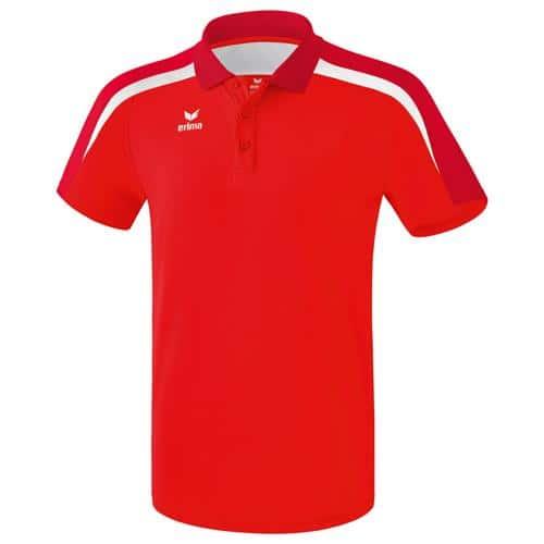 Polo PES Erima Liga 2.0 Rouge/Blanc
