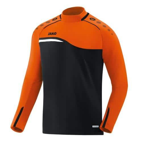 Sweat Jako Competition 2.0 Noir/Orange