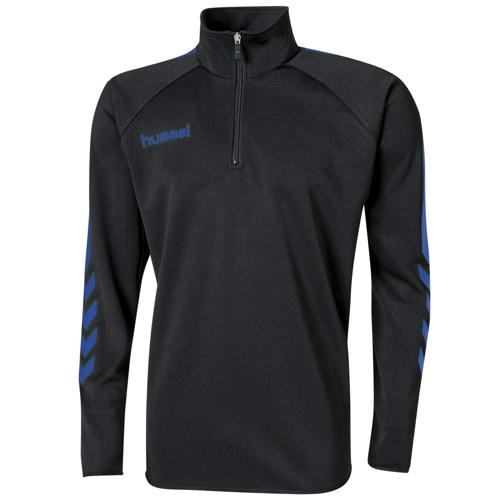 Sweat Hummel 1/2 Zip Core Noir/Royal