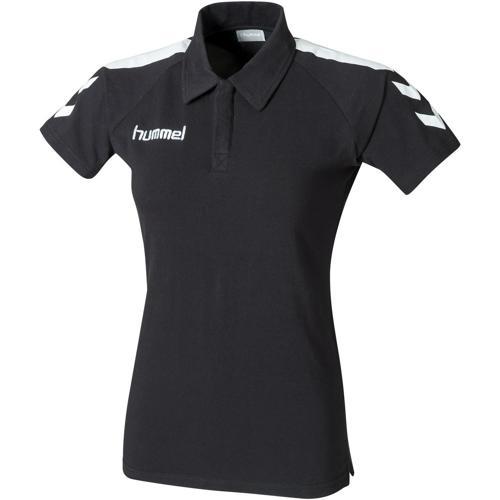 Polo Hummel féminin Core PES Noir/Blanc