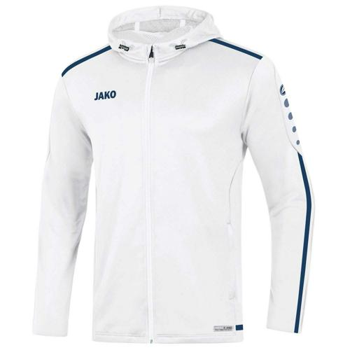 Veste capuche Striker 2.0 Blanc/Marine JAKO