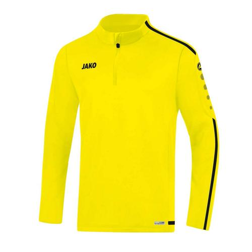 Sweat 1/2 zip Striker 2.0 Jaune fluo/Noir JAKO