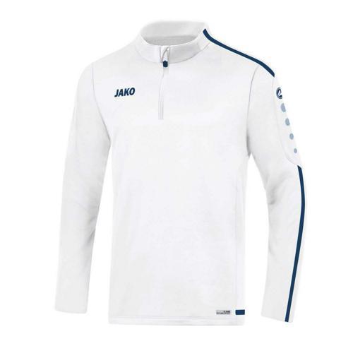 Sweat 1/2 zip Striker 2.0 Blanc/Marine JAKO