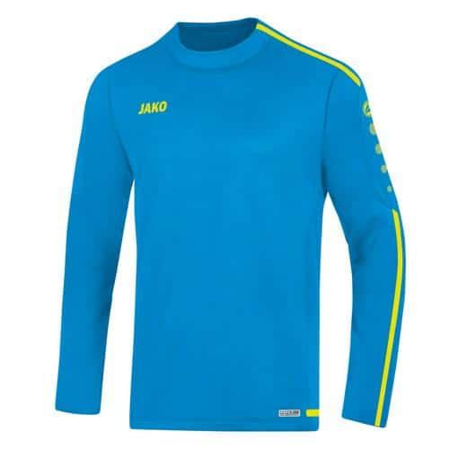 Sweat Top Striker 2.0 Bleu/Jaune fluo enfant JAKO