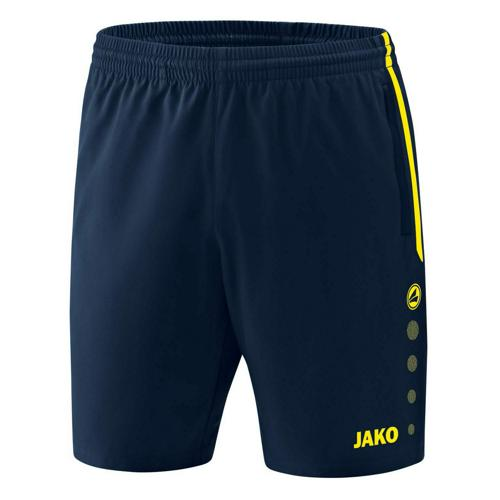 Short competition 2.0 Marine/Jaune fluo enfant JAKO