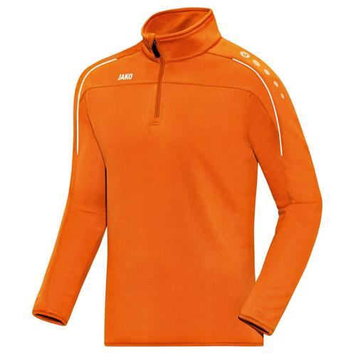 Sweat 1/2 zip Classico Orange fluo JAKO