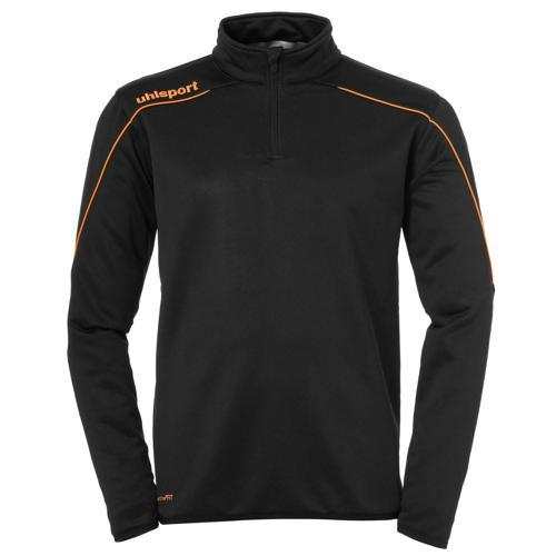 Sweat 1/2 Zip Stream 22 Noir/Orange fluo UHLSPORT