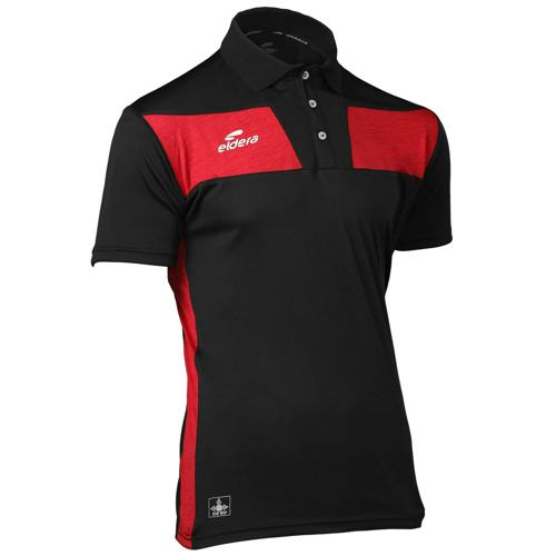 Polo 10NAMIK Noir/Rouge chiné Eldera