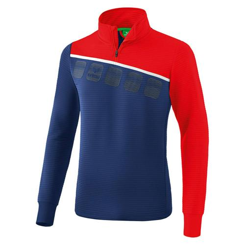 Sweat 1/2 zip 5-C Marine/Rouge Erima