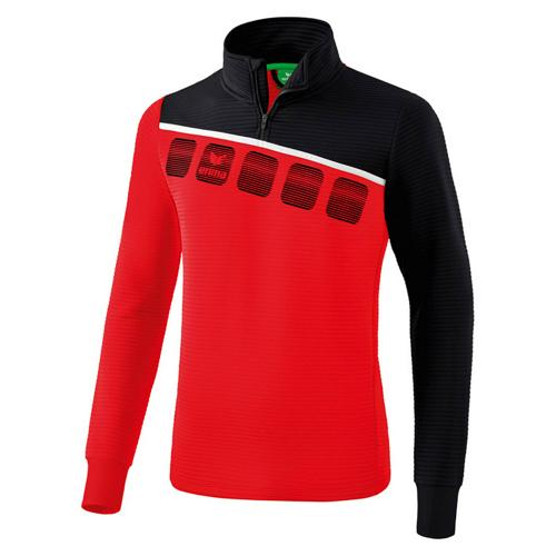 Sweat 1/2 zip 5-C Rouge/Noir enfant Erima