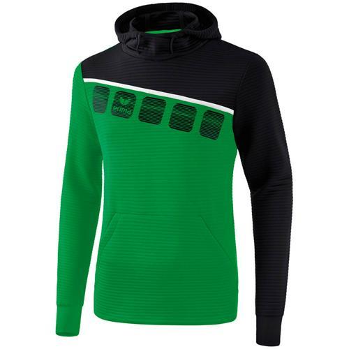 Sweat à capuche 5-C Vert/Noir Erima