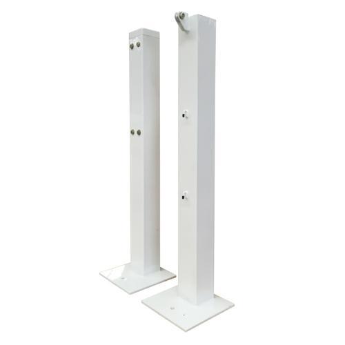 Poteaux de Padel carré 80 x 80 mm avec tension intéieur sur platine