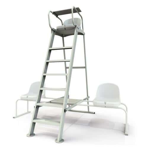 Chaise d'arbitre de tennis en aluminium