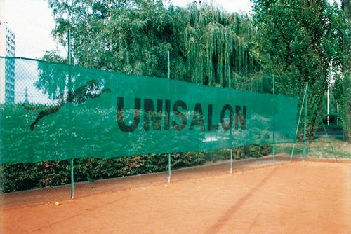 Filet brise vent pour terrain de tennis