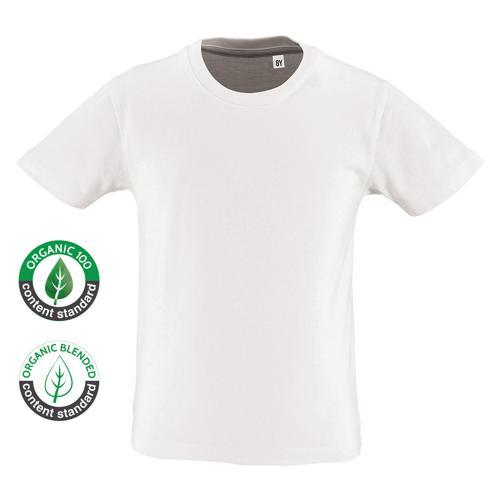 Tee Shirt coton bio 160g enfant blanc
