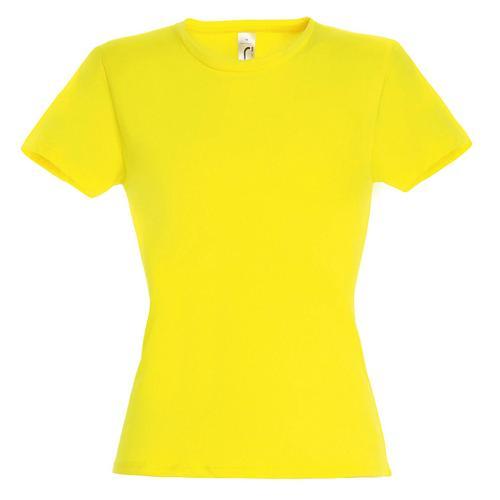 Tee-shirt classic femme citron coton 150 g