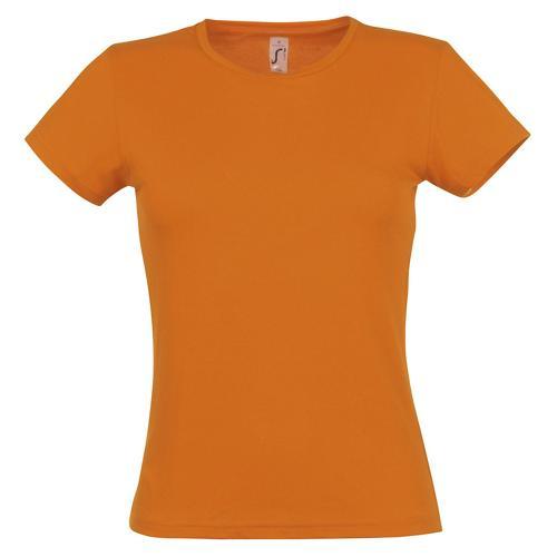 Tee-shirt classic femme orange coton 150 g