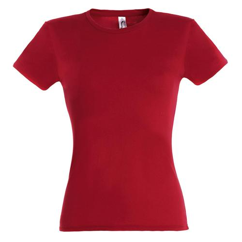 Tee-shirt classic femme rouge coton 150 g
