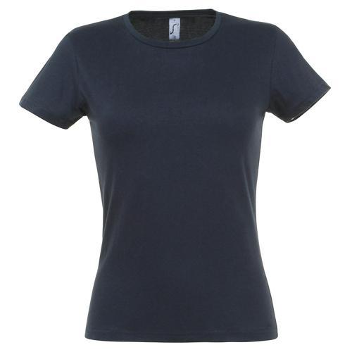 Tee-shirt classic femme marine coton 150 g