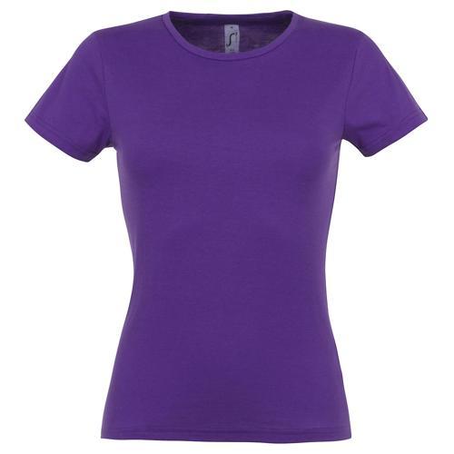 Tee-shirt classic femme violet foncé coton 150 g