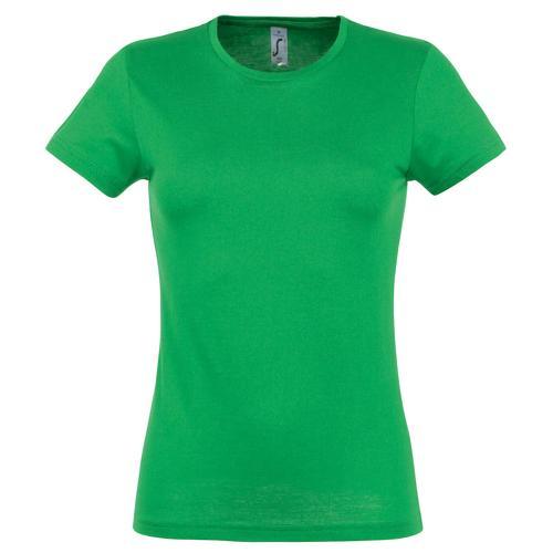 Tee-shirt classic femme vert prairie coton 150 g
