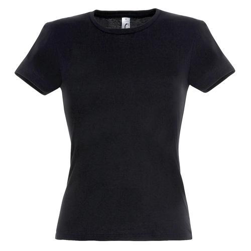 Tee-shirt classic femme noir coton 150 g