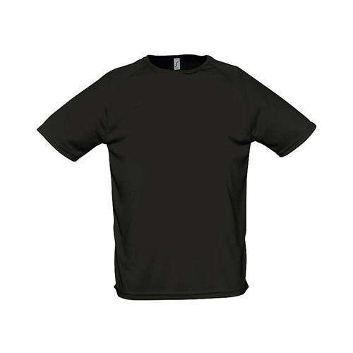 Tee-shirt uni technic PES adulte noir
